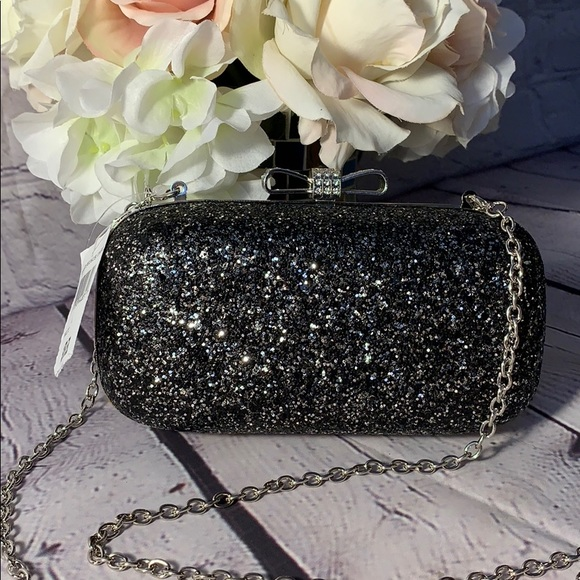 233c561a76b NWT inc evening bag, hard sparkle case. Boutique. INC International Concepts